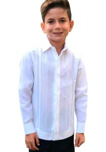 Fashion Design Shirt for Kids. Haute Couture. Pleats & Lace. Premium 100 % Linen. White Color. Back Orders or Demand. RUN SMALL.