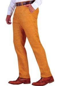 Linen Classic Pants For Men. Linen 100 %. Good Quality Linen. Ocher Yellow Color.