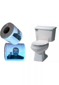 Toilet paper with Castro's face