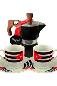Cuban Cups and Coffee Maker as a Special Gift. Traditional Cuban Maker.