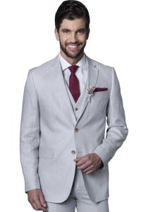 Linen Suit for Wedding. Premium Linen. High Quality Linen. Light Gray Color. Back Orders or Demand.