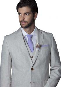 Linen Suit White