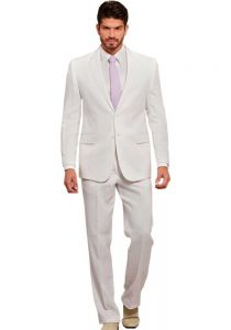 Linen Suit For Wedding White Color. Bow Included. Back Orders or Demand.