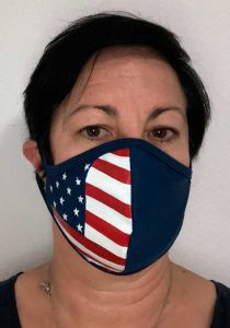 Virus Protection USA Flag Mask - Wedding or Any Event,  Unique Design Mask. Painted by a Mexican artist :
